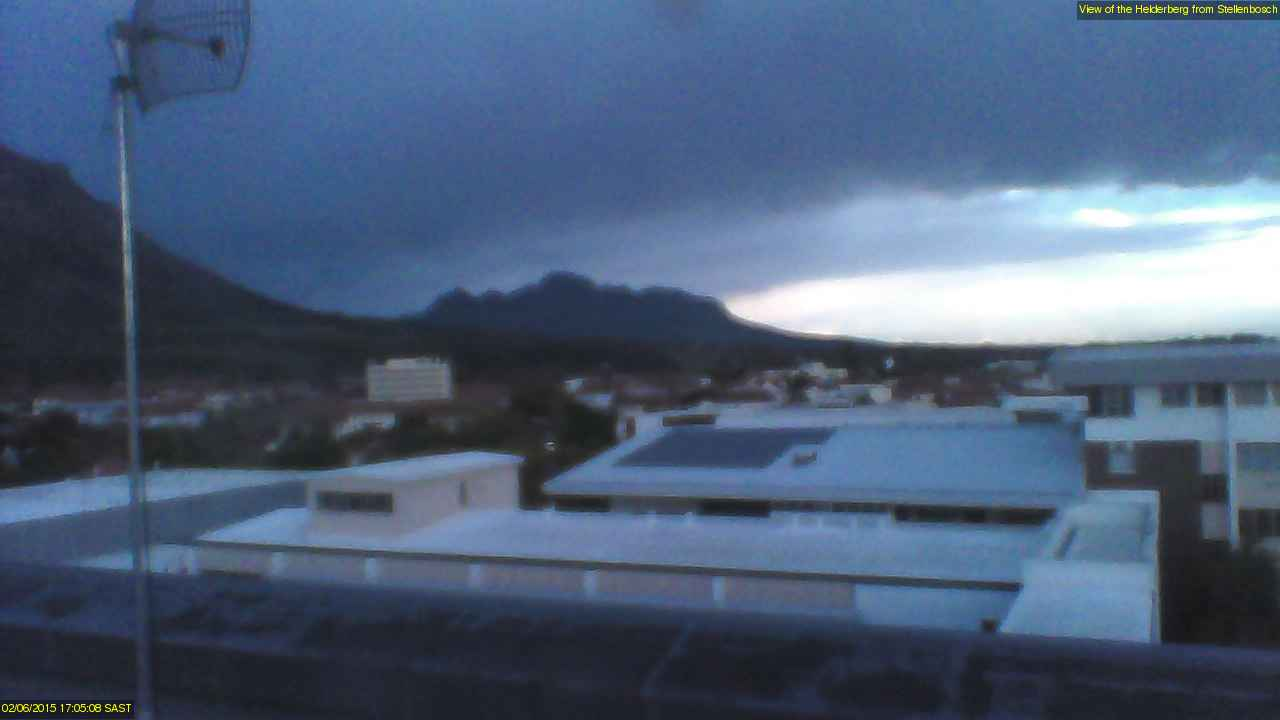 Webcam of Jonkershoek from Stellenbosch
